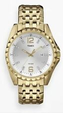 Timex T2P262, Men's, Crystals, Goldtone Bracelet Band Watch, Date, T2P2629J