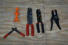 Lot of 5 Wire Stripper Tools – Amp Automatic, Blue Point & Thomas and Betts