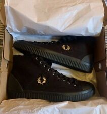 FRED PERRY HI -TOP SNEAKERS MENS HUGHES BLACK / CHAMPAGNE BRAND NEW IN BOX