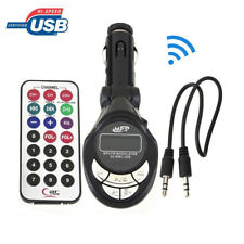 Car Kit MP3 Player Wireless FM Transmitter Modulator USB SD CD MMC Remote XRC