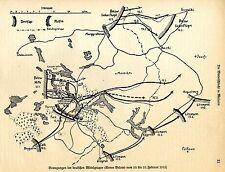 1915 * Winterschlacht in den Masuren Bewegungen der Armee Below * WW 1