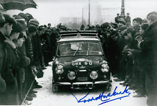 Paddy Hopkirk Hand Signed Mini Cooper Photo 12x8 1.