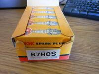 NOS NEW Vintage NGK Spark Plugs Box of 10 B7HCS
