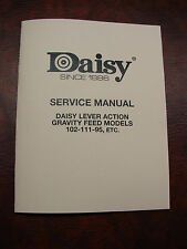 "Daisy Lever-Action Red Ryder, Model 111, 102, 95, Etc. - ""Service Manual"""