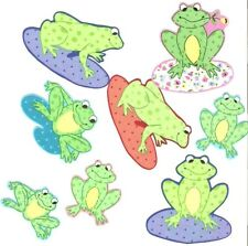 Happy Frogs  - Iron On Fabric Appliques