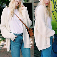 Womens Winter Baggy Cardigan Coat Tops Chunky Knitted Oversized Sweater Jumper