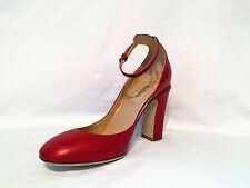 NEW Valentino Women's Tango Ankle Strap High Heel Red Pumps, Sz 8     FREE SHIP