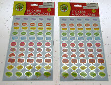 Kids Stickers ~ Fun Expressional Positive acknowledgment ~ 110 count ~ Lot of 2