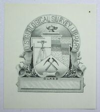 {DO741C} Engraved Vignette U.S. Geological Survey Library
