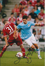 Stevan JOVETIC Signed Autograph 12x8 Photo AFTAL COA Man City Champions League