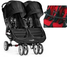 WÓZEK BABY Jogger CITY MINI DOUBLE BLACK, RED,TEAL+Pałąk Twin Baby Pushchair
