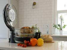 Michael James large 17 Litre Hinged Lid Halogen Oven Cooker in Black