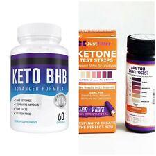 Pure Keto Fat Burner Pills  Advanced Weight Loss Ketosis Plus 125 Ketone Strips