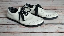 Mens TUK White Lace Up Creeper Sneakers Trainers Shoes Size UK 10