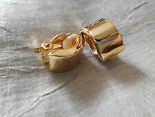 Graziöse Ohrclips gold farben Creolen NEU  1,8 cm breit 1 cm