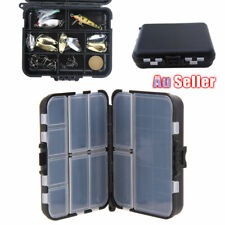 Folding Tackle Box Bait Storage Hook Compartments Changable layer Fishing Double