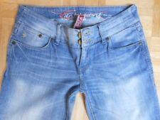 ESPRIT FIVE Jeans Gr W28 L32 hellblau Straight Leg Stretch Low Rise Vintage