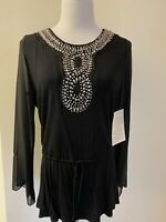 Boston Proper Black Long Sleeve Top Vneck Gorgeous Top NWT