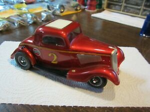 Used Vintage '34' Ford Coupe Du Bro Body on Cox 1/24 Scale Slot Car Chassis