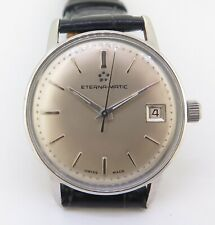 Vintage Eterna Matic Automatic Wind Steel Men's Watch No Reserve!