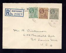 Used George V (1910-1936) Montserratian Stamps