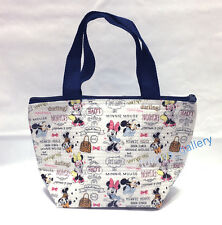 Disney Official Minnie Mouse Insulated Lunch Snack Mini Zipper Bag TOTE