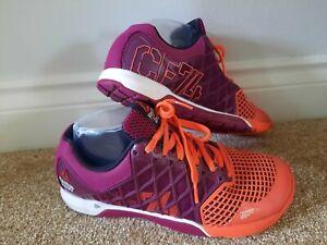 Ladies REEBOK size 5 Purple Fitness CROSSFIT TRAINERS gym running Purple FREEPP