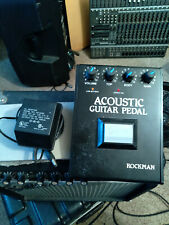 VINTAGE ROCKMAN ACOUSTIC GUITAR PEDAL Working 'SEE VIDEO' Gray Button