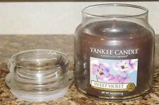 Yankee Candle Sweet Violet NEW 14.5 oz GLASS JAR  RARE HARD TO FIND SCENT