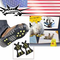 Winter Ice Snow Anti Slip Spike-s Grips Crampon Cleats For Shoes Boot Overshoe