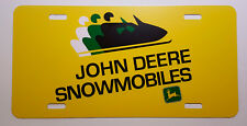 Vintage John Deere Snowmobile Logo Novelty License Plate