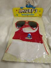 Rare Smurf's Wardrobe Or Plush Doll Muscle Shirt & Shorts Set 1983     NEW t1316