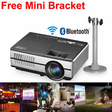 EUG Mini LED Smart Projector HD Android WiFi Bluetooth Home Theater TV WLAN HDMI