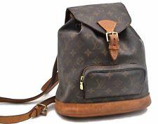 Authentic Louis Vuitton Monogram Montsouris MM Backpack M51136 LV A5388