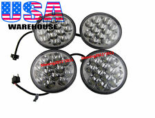 "5-3/4"" INCH LED HID CREE LIGHT BULBS CRYSTAL CLEAR SEALED BEAM HEADLIGHT 2 PAIRS"