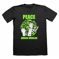 Peace Among Worlds Rick And Morty Funny T Shirt nerd  t-shirt for men tshirt tee
