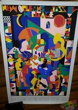 Vtg 1993 New Orleans jazz and heritage festival poster signed/numbered