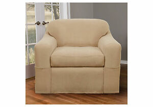 Natural Stretch Reeves Wingchair Slipcover - Maytex