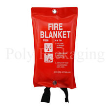 1 x LARGE FIRE BLANKET 1x1m(100x100cm)QUICK RELEASE Office Work Home Factory