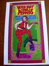 Red Hot Chili Peppers Bob Masse Concert Poster Pacific Coliseum 11 X 17