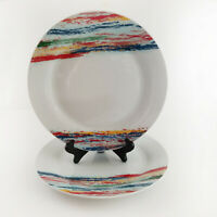 """Set of 2 Shadow Dinner Plate Round Rainbow Tabletops Gallery 10 3/8"""""""