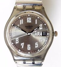 Gents Swiss Swatch 1995 Highway GM706 Quartz Day/Date Bracelet Watch