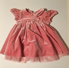 NEXT Baby Girls Pink Short Sleeve Dress Size 3-6 Months