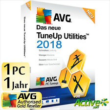TuneUp Utilities 2018 1 PC Vollversion AVG PC TuneUp UE Tune Up 2017 Deutsch NEU