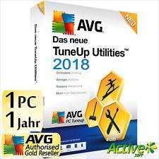 TuneUp Utilities 2018 1 PC Vollversion AVG PC TuneUp UE Tune Up 2019 Deutsch NEU