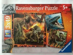 Brand New Ravensburger 3x49 Large Piece Jigsaw Puzzles - JURASSIC WORLD