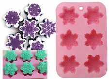 Snowflakes 6 Different Shapes Christmas Silicone Mould: Soap Candle CupCake MOLD