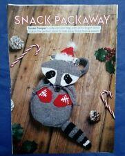 CHRISTMAS RACOON TREAT BAG knitting pattern Snack Packaway