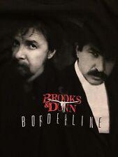 BROOKS & DUNN 1996 Borderline Black Concert Country T-shirt Large rare