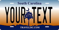 South Carolina  2008 License Plate Personalized Car Auto Bike Motorcycle Moped